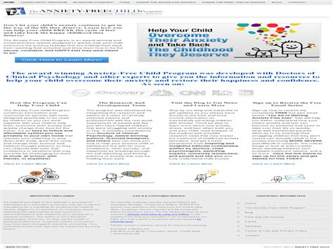 @ Overcome Child Anxiety   High Conversions   No Opt-In .