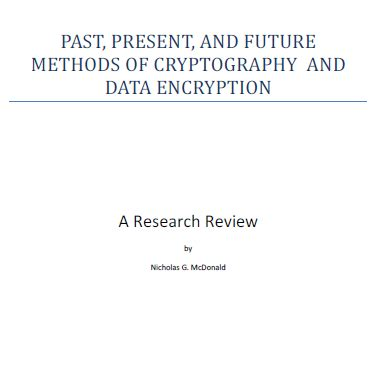 [pdf] Past Present And Future Methods Of Cryptography And Data .