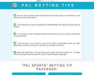 [click]pkl Sports - Bet Like A Pro Who Makes A Living From It .