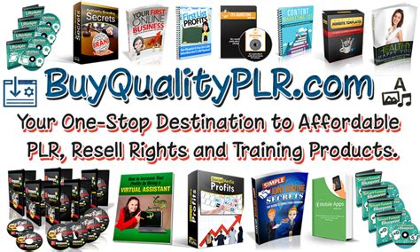 [click]plr Products  Plr Content  Buy Quality Plr Store.