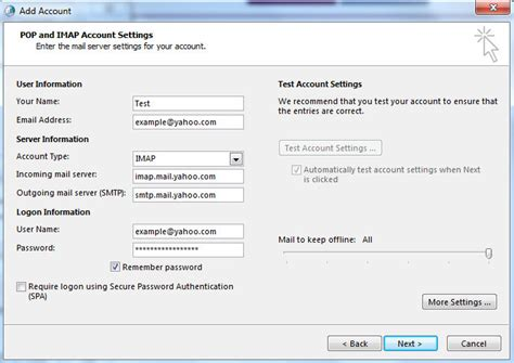 [click]pop Access Settings And Instructions For Yahoo Mail .
