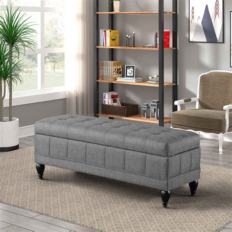 Padded Bench Seat With Storage