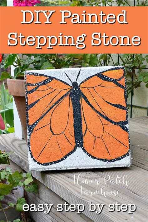 Paint A Monarch Butterfly Stepping Stone - Flower Patch .