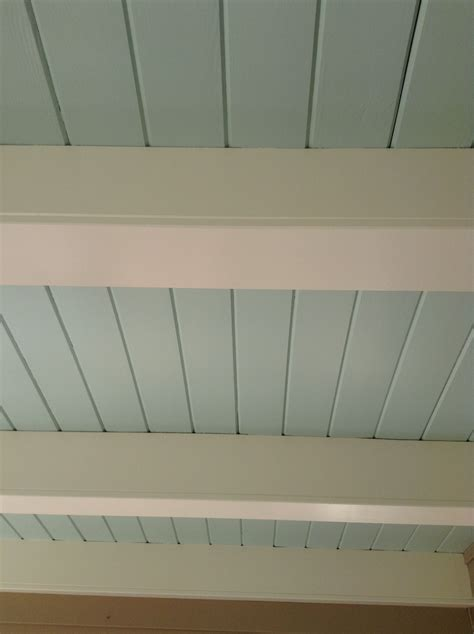 Paint The Shiplap Ceiling Haint Blue Bm Woodlawn Blue Hc .