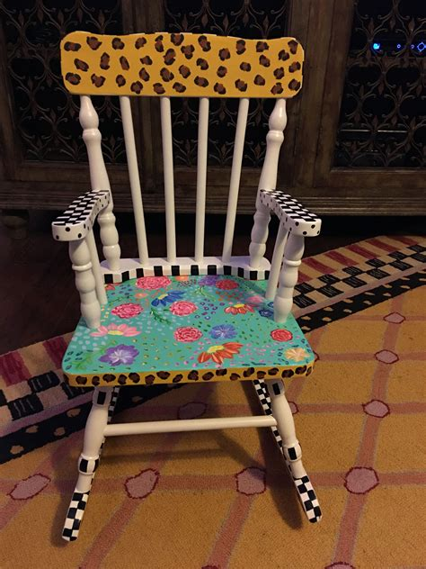 Painted Wooden Child Chair