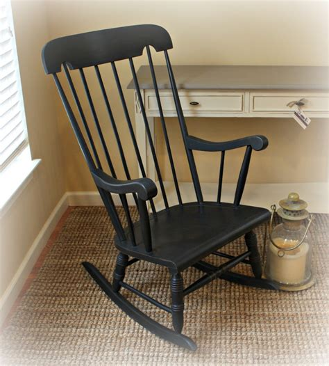 Painting Old Wood Rocking Chair