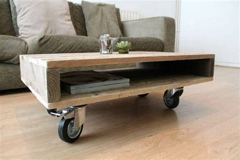 Pallet Coffee Table On Casters