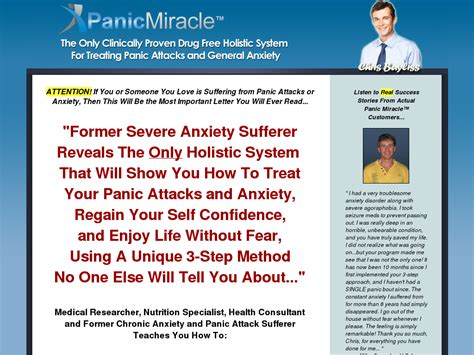 Panic Miracle (tm): Top Panic & Anxiety Cure On Cb! - Youtube.