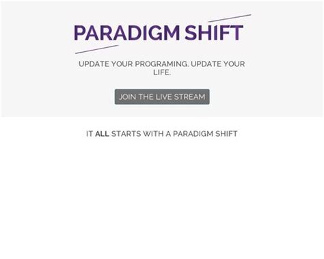 [click]paradigm Shift Live Stream Seminar 50 Comms .
