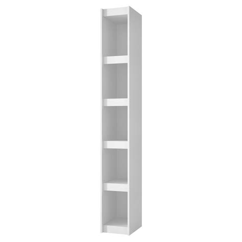 Parana Bookcase 1 0 With 5 Shelves In White - Bisonoffice Com.