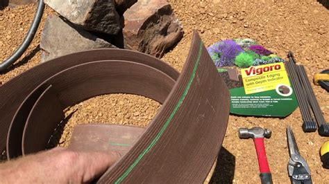 Part 1 Part 2 Vigoro Composite Landscape Edging Review - Premium Brown Border For Flower Beds.