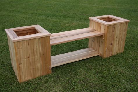 Patio Wood Bench Planter