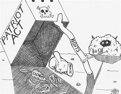 Patriot Act Political Cartoon
