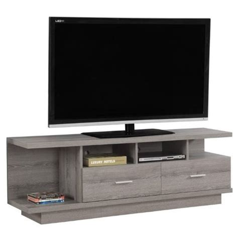 Pemberly Row 60 Tv Stand In Dark Taupe - Walmart Com.