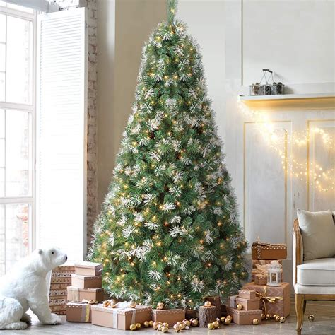 Perfect Holiday 8  Snow Flocked Artificial Christmas Tree.