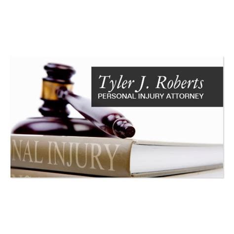 Personal Injury Lawyer Business Cards