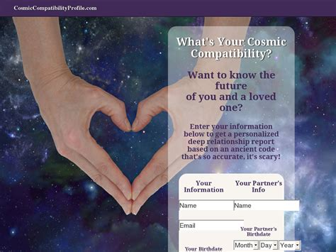 Personalized Cosmic Compatibility Profile.