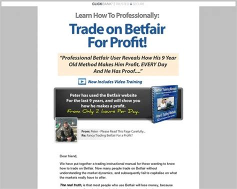 [click]pete S Betfair Methods - Professional Betfair Training System.
