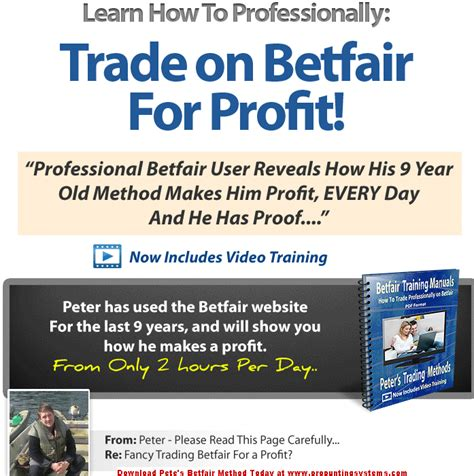 Petes Betfair Method System Review Pdf Download.