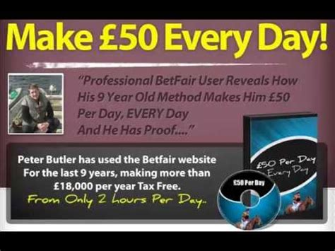 Peter Butler £50 Per Day Betfair System Review - Method Passed.