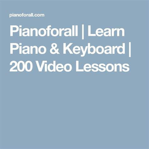 [pdf] Pianoforall Learn Piano Keyboard 200 Video Lessons .