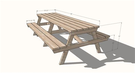 Picnic Table Sizes