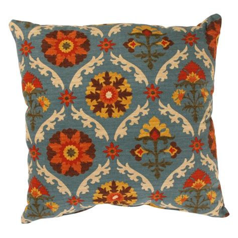 Pillow Perfect Pillow Perfect Mayan Medallion Square Throw .