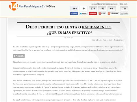 [click]plan Para Adelgazar En 14 Dias - 14 Day Fat Loss Plan Spanish.