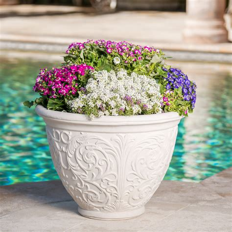 Planters - Cast Stone - Into The Garden Outdoor.