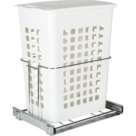 Plastic Pull Out Hamper With Chrome Hardware - Modular Closets.