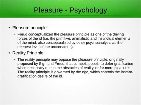 @ Pleasure Principle Psychology - Wikipedia.