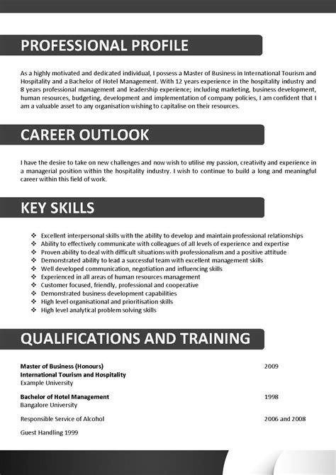plumbing resume template australia