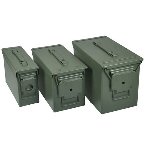 Police Store 50 Caliber Ammo Can Steel Green  Police Store.