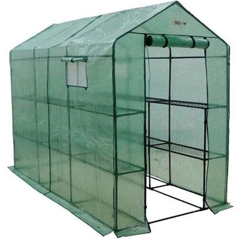 Portable Extra Large Greenhouse Walk-In 2-Tier 12-Shelf .