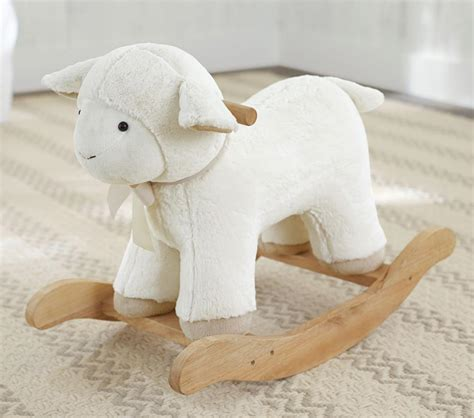 Pottery Barn Lamb Rocking Horse