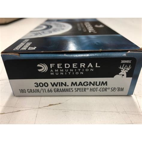 Power-Shok Ammo 300 Win Mag 180gr Sp Federal.