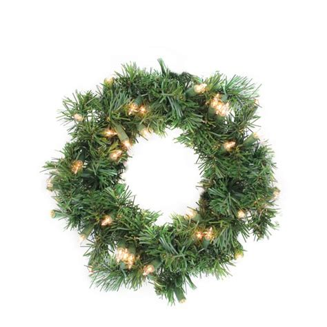 Pre-Lit Deluxe Windsor Pine Artificial Christmas Wreath .