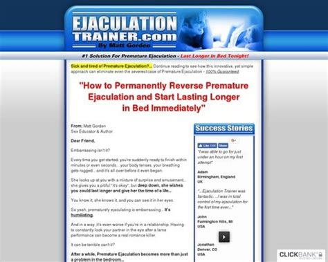 Premature Ejac Product – Conversion Monster – 10+ Years Running.