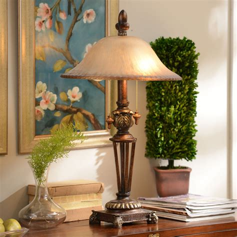 Prescott Bronze Glass Table Lamp  Kirklands.