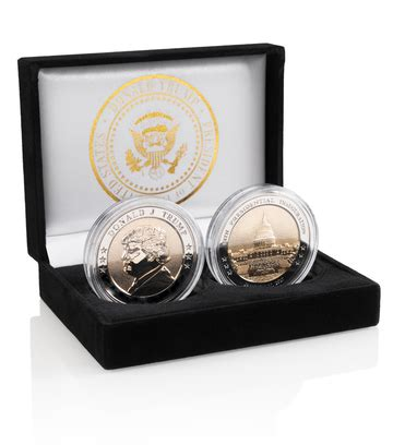 [click]president Donald J Trump 24k Gold Coin Set   Gop World.