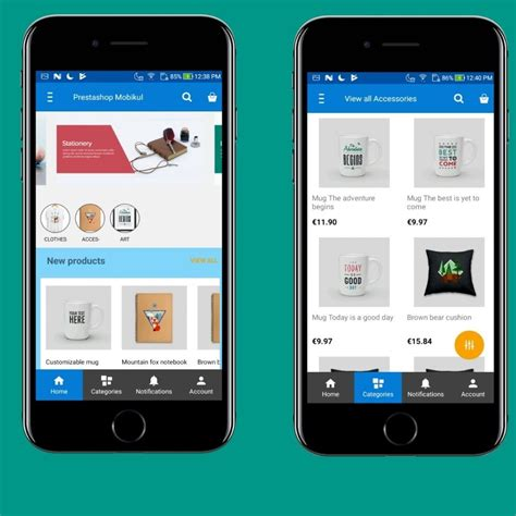 Prestashop Mobile App Android App Creator Ios Ecommerce.