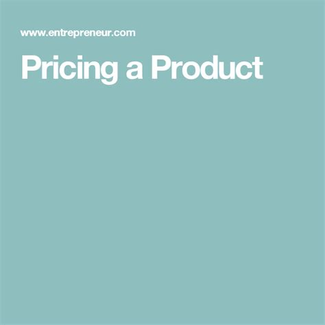 [click]pricing A Product Definition - Entrepreneur Small Business .