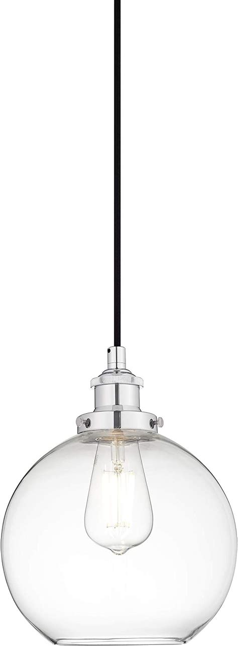 Primo Industrial Kitchen Pendant Light - Chrome Hanging .