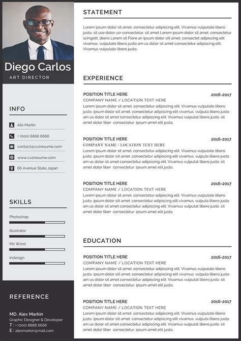 professional resumes format free download