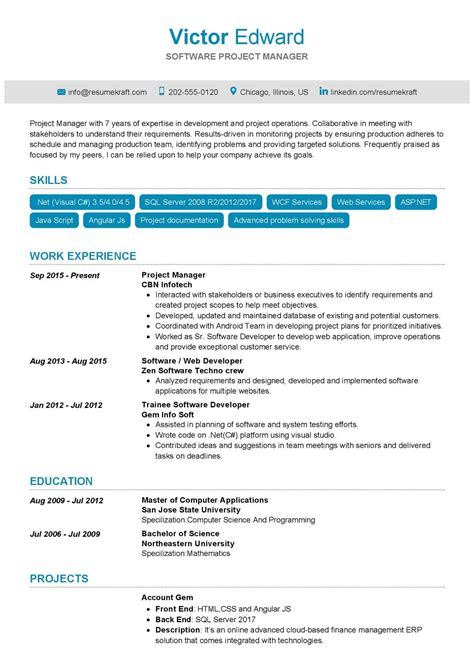 Download Project Manager Resume Writing Service