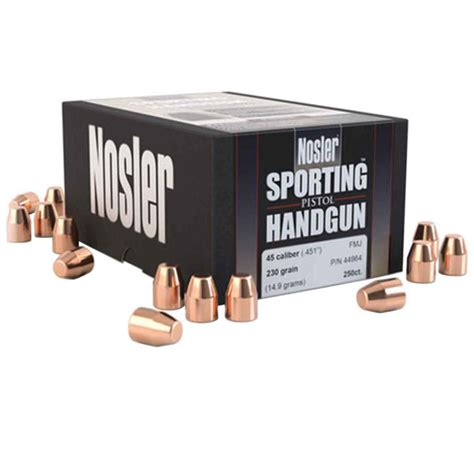 Promotion Today Nosler Sporting Handgun Revolver Bullets .