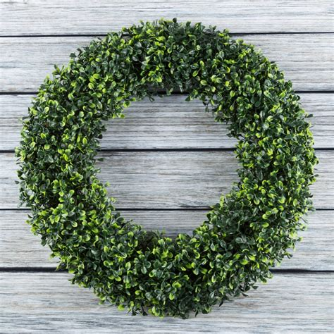 Pure Garden 19 5 Artificial Uv Resistant Boxwood Wreath .