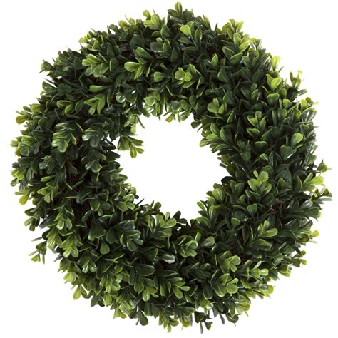 Pure Garden 19 Inch Boxwood Wreath Indoor Outdoor .