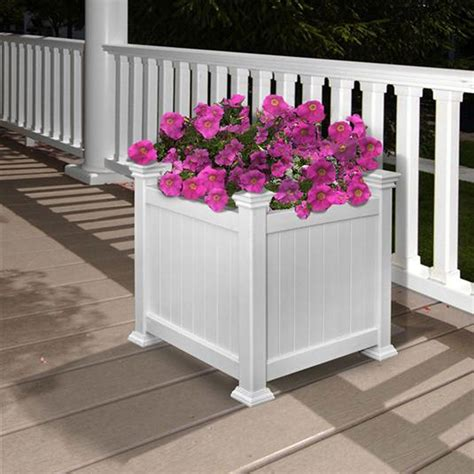 Pure Garden Box Planter White Amazon Ca Patio Lawn .