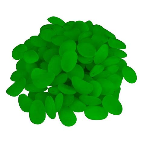 Pure Garden Glow In The Dark Pebbles 100-Piece  Pool